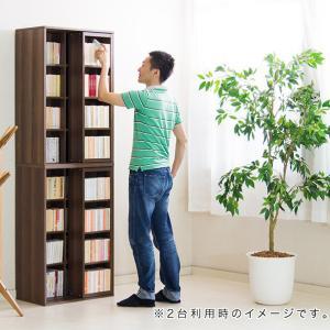 本棚 スライド本棚 幅60cm 奥深 シングルスライド|kagudoki|06
