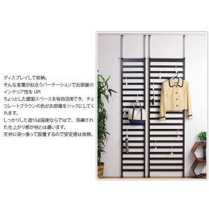 つっぱり式 壁面ラック 幅40 ハンガーラック スチール おしゃれ ラダーラック 日本製|kagudoki|03