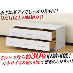 ローチェスト 引出し テレビ台 TV台 白 リビングボード ブランコ 幅90|kagudoki|02