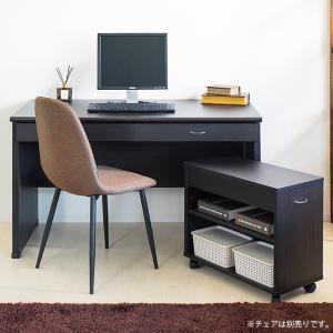 パソコンデスク キャビネット 2点セット デスク 幅120cm 机 事務|kagudoki|03