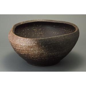 水鉢 ガーデニング 信楽焼 陶器 めだか鉢 窯変 小 家具|kaguemon
