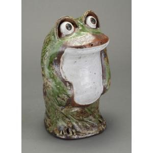 陶器 蛙 カエル 信楽焼 置物 家具|kaguemon