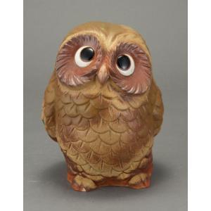 陶器 ふくろう 信楽焼 置物 家具|kaguemon