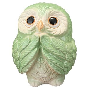陶器 ふくろう フクロウ 梟 風水 信楽焼 置物 家具|kaguemon