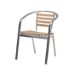 ガーデンアルミオークチェア幅広 家具|kaguemon