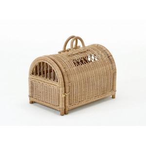 キャリーバッグ 小型犬 猫 籐 ラタン 家具|kaguemon