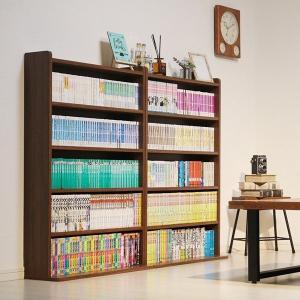 コミック本を最大限に収納するために設計された本棚です。 そして、背面部には電源コードを通せる加工を施...