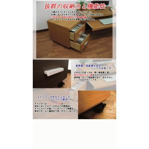 パソコンデスク ロータイプ ローデスク パソコンラック 木製 2点セット|kagufactory|04