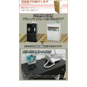 電話台 TEL台 FAX台 キャビネット リビング収納 サイドボード 鏡面 幅60 電話台|kagufactory|05
