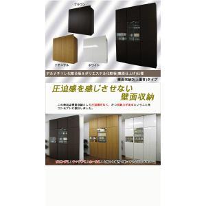 壁面収納 幅60 奥行24.5 高さ55(扉の高さ60) Dタイプ リビング収納 キッチン収納 本収納 AV収納 壁面収納 つっぱり|kagufactory|02