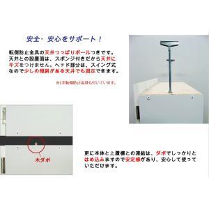 壁面収納 幅60 奥行24.5 高さ55(扉の高さ60) Dタイプ リビング収納 キッチン収納 本収納 AV収納 壁面収納 つっぱり|kagufactory|04