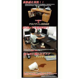 パソコンデスク ハイタイプ パソコンラック 幅180cm 奥行74cm 木製 机単品 kagufactory 04