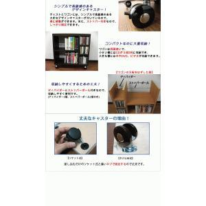 ワゴン ラック 家具 キャスター付き 本棚 収納 幅59.5cm 奥行29.5cm 木製 (単品) kagufactory 03
