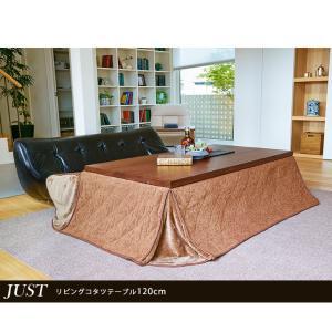 こたつ 長方形 120 本体 おしゃれ こたつテーブル ダイニングこたつ 高さ4段階調節 JUST ジャスト|kaguhonpo|09