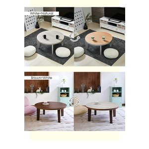 こたつテーブル 円形 丸型 こたつ 丸 80cm おしゃれ デザイン コタツ 丸型こたつ 家具調こたつ リバーシブル天板 Bell ベル|kaguhonpo|04