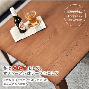 こたつ 折りたたみ 長方形 こたつテーブル おしゃれ フラットヒーター 折れ脚こたつ ロア 105x75cm|kaguhonpo|03
