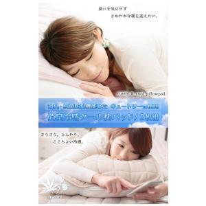 枕パッド シングル用 枕パッド 同色2枚組 ひんやり枕パッド 枕カバー シンプル 冷感 抗菌防臭 2枚組|kaguhonpo|04