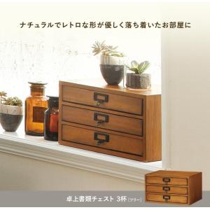 卓上書類チェスト 3杯 レトロ アンティーク 木製 A4 おしゃれ 小物入れ ナチュラル シンプル 可愛い 完成品 tree kaguhonpo 07