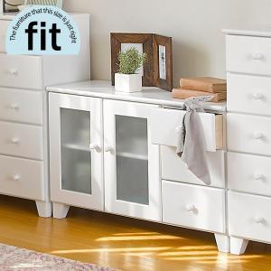 リビングボード キャビネット サイドボード 完成品 白 ホワイト 木製 リビング収納 おしゃれ fit フィット|kaguhonpo