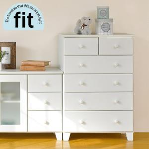 チェスト 完成品 木製 白 ホワイト 5段 6杯 おしゃれ ハイチェスト 新生活 一人暮らし 家具 fit フィット|kaguhonpo