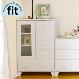 キャビネット ガラス 白 ホワイト 完成品 引出し付き おしゃれ 木製 新生活 一人暮らし 家具 fit フィット|kaguhonpo