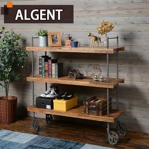 ラック 収納ラック 収納 棚 シェルフ おしゃれ 木製 ディスプレイラック 3段 (ALGENT)アルジェント|kaguhonpo