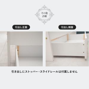 すのこベッド シングル 木製 収納ベッド 姫系 棚コンセント付き 引出し付きすのこベッド セミダブル フレームのみ Prima プリマ|kaguhonpo|09