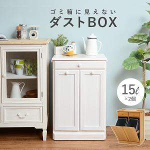 ダストボックス 分別 おしゃれ キッチン ごみ箱 分別 ゴミ箱 2分別ダストボックス 15L×2個|kaguhonpo