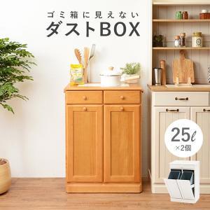 ダストボックス 分別 おしゃれ キッチン ごみ箱 分別 ゴミ箱 3分別ダストボックス 25L×2個|kaguhonpo
