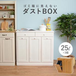ダストボックス 分別 おしゃれ キッチン ごみ箱 分別 ゴミ箱 3分別ダストボックス 25L×3個|kaguhonpo