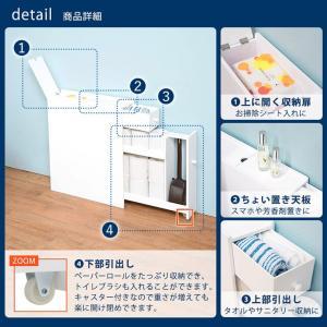 トイレ収納 トイレラック スリム ラック 隙間収納 掃除用具 収納 トイレットペーパー収納 サニタリー収納 おしゃれ 白 ホワイト|kaguhonpo|05