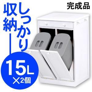 ダストボックス 分別 ダストボックス おしゃれ 分別ダストボックス 分別 ゴミ箱 キッチン ふた付き 2分別 15L×2個|kaguhonpo