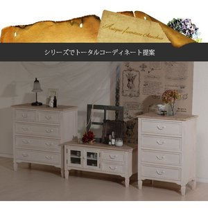 チェスト 木製 ホワイト チェスト ホワイト 収納家具 アンティーク風 家具 チェスト幅80cm|kaguhonpo|06