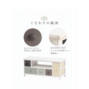 テレビ台 収納 おしゃれ ローボード 完成品 グレイッシュ 幅84cm(sherbet)シャーベット|kaguhonpo|08