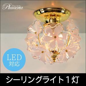 玄関照明 おしゃれ シーリングライト 照明 ライト トイレ 照明器具 ランプ 天井照明 洋風ライト プルメリア 1灯 kaguhonpo