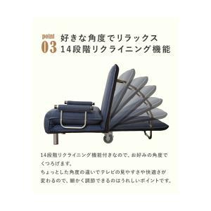 ソファーベッド 安い 折りたたみ ソファベッド コンパクト キャスター付き ソファーベット シングル 3way kaguhonpo 08
