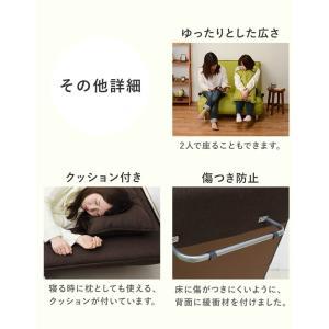 ソファーベッド 安い 折りたたみ ソファベッド コンパクト キャスター付き ソファーベット シングル 3way kaguhonpo 10
