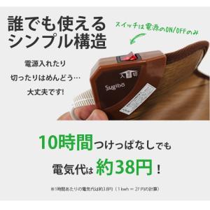 キッチンマット フローリング調 ホットマット ホットカーペット 電気マット 電気カーペット 幅240cm|kaguhonpo|04