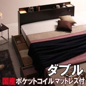ベッド 引き出し 引き出し付き ベッド 引き出し 収納ベッド ベッド 引き出し ダブル マットレス付き ユアン|kaguhonpo