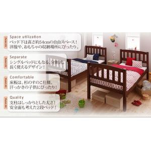 二段ベッド 2段ベッド 子供 収納 フレームのみ pacio パシオ|kaguhonpo|02