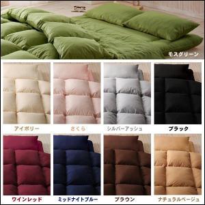 寝具セット シングル 全9色 羊毛混ボリューム敷布団×羽根布団8点セット 省スペースタイプ|kaguhonpo|02