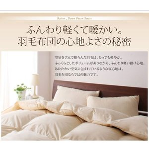 羽毛布団セット シングル 布団セット シングル 寝具セット ベッドタイプ 9色 グースタイプ 羽毛布団8点セット kaguhonpo 04