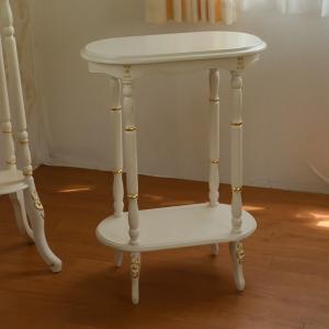 アンティーク テイスト・ロココ調 家具:アイボリーゴールド:マルチテーブル 送料無料|kagukomu