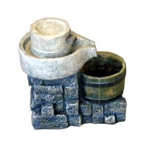 値下げしました!!輸入雑貨:噴水:碾き臼型S|kagukomu
