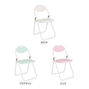 折りたたみ椅子 ホワイトフレーム パイプ椅子 ミーティングチェア 会議椅子 会議チェア 折り畳み椅子|kagukuro|02