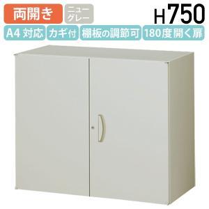 両開き書庫 W900 D450 H750 スチール書庫 スチール書棚 オフィス書庫 オフィス書棚 システム収納庫 代引不可 858805 法人宛限定|kagukuro