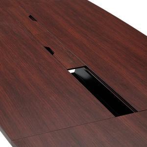 ユニット式会議テーブル W3000 D1200 H700 舟形 会議テーブル 高級会議テーブル テーブル 会議机 長机 ダークローズ RY-PC201 代引不可 175502 法人宛限定|kagukuro|03
