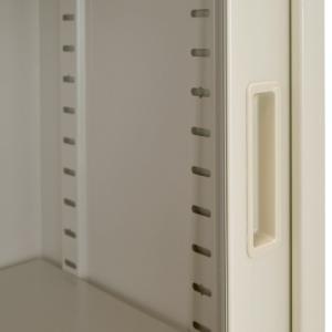 ガラス63引違い書庫 W1760×D400×H880 スチール書庫 オフィス書棚 代引不可 866411 法人宛限定|kagukuro|03