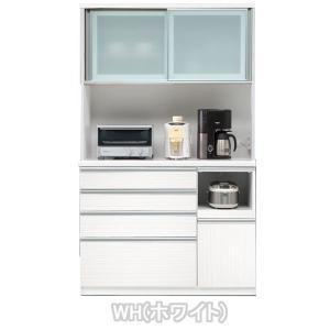 食器棚 引き戸 レンジ台 完成品 120cm幅 開梱設置|kagunoconcierge|02
