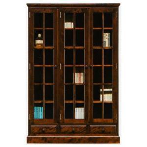 本棚 書棚 民芸家具 開き戸 完成品 120cm幅 「樹氷」 開梱設置|kagunoconcierge